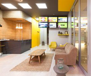 corporate interior design offices Rawson's reception 3