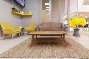 corporate interior design offices Rawson's reception seating 1