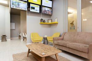 corporate interior design offices Rawson's reception seating 2