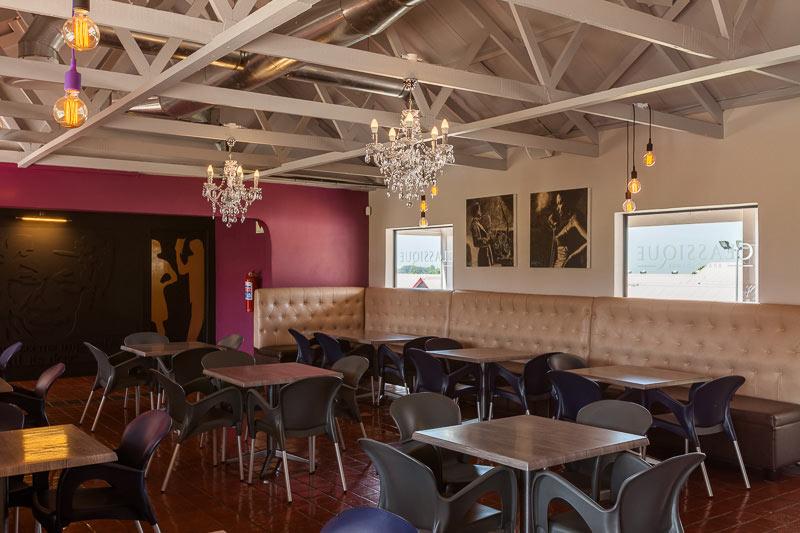 corporate interior design restaurant CB seating area 2