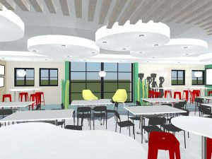 corporate interior design canteen seating 3