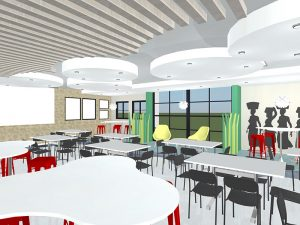 corporate interior design canteen seating 4