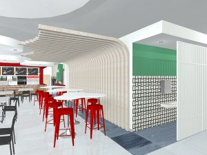 corporate interior design canteen seating 5