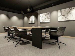 corporate interior design hotel board room angle 1