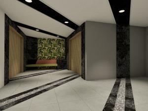 corporate interior design hotel lobby angle 2