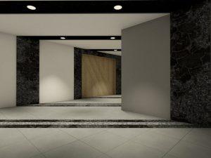 corporate interior design hotel lobby angle 1