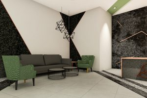 corporate interior design hotel reception waiting area