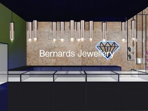 corporate interior design retail jewellery store main counter 4