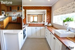 residential interior design De Goede kitchen before and after