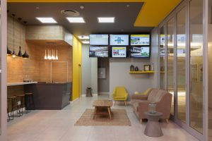 corporate interior design offices Rawson's reception 1