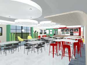 corporate interior design canteen seating 2