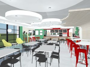 corporate interior design canteen seating 6