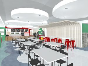 corporate interior design canteen seating 7