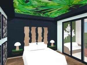 corporate interior design hotel family room bedroom