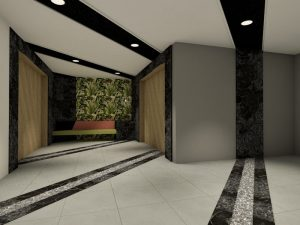 corporate interior design hotel lobby angle 2