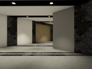 corporate interior design hotel lobby angle 1