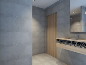 corporate interior design hotel standard room bathroom