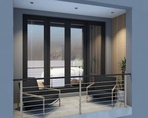 corporate interior design hotel standard room balcony
