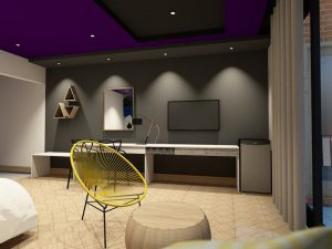 corporate interior design hotel superior room living area