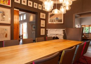 residential interior design Beagle dining room table