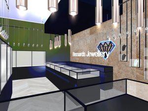 corporate interior design retail jewellery store main counter 1