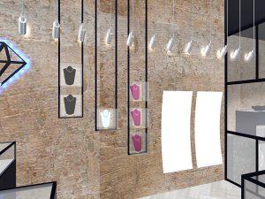 corporate interior design retail jewellery store decoration