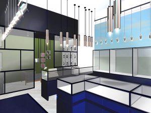 corporate interior design retail jewellery store 1