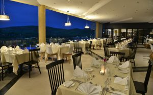 hotel rwanda interior design restaurant at night